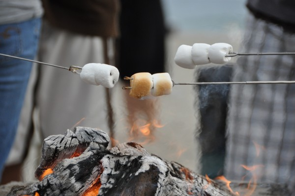 What's a beach bonfire without s'mores?
