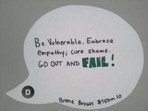 Brene Brown's TED Talk in Ten Words